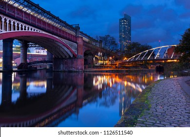 Castlefield And The Beetham Tower in Manchester, Greater Manchester, England, UK