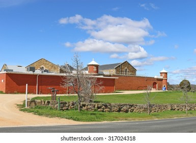 CASTLEMAINE, VICTORIA, AUSTRALIA - September 5, 2015: Castlemaine's heritage-listed old gaol was built in 1861 to house offenders from the goldfields and nearby towns