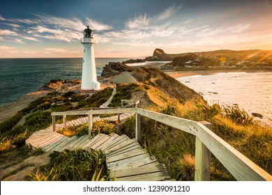 Castlepoint lighthouse and path