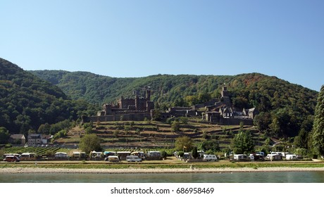 Castles on the banks of the Rhine River, Germany