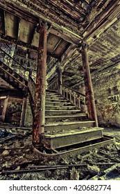 Castleton Castle. The Samuel R. Smith Infirmary, the former Staten Island hospital. Staten Island, New York, US