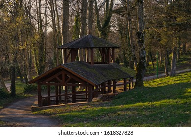 Castres, Tarn, France - january 17 2020 Restored medieval wash-house