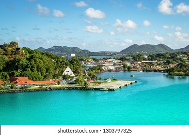 Castries, St Lucia cruise port.