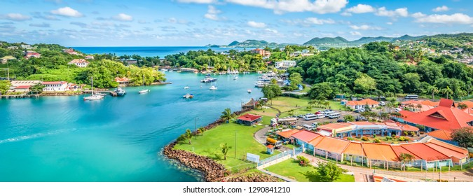 Castries in St Lucia, Eastern Caribbean