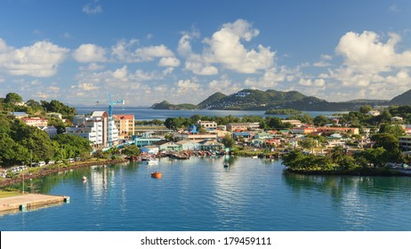 CASTRIES, ST LUCIA - NOVEMBER 7:  Castries waterfront pictured on November 7, 2013.  Castries is the capital of the island of St Lucia, one of the Windward Islands in the West Indies.