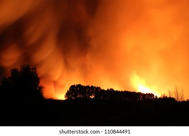 Castrocontrigo wildfire in Jimenez de Jamuz, Leon. Launched on August 19, 2012
