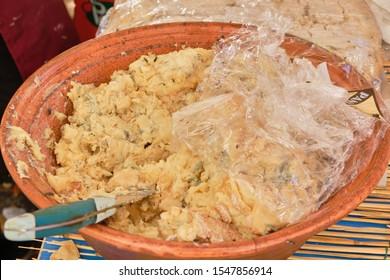 Casu Marzu, sardinian cheese with larvae of Piophila Casei