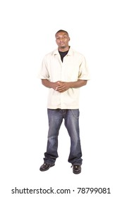 Casual Black Man posing - Isolated Background