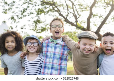 Casual Children Cheerful Cute Friends Kids Concept