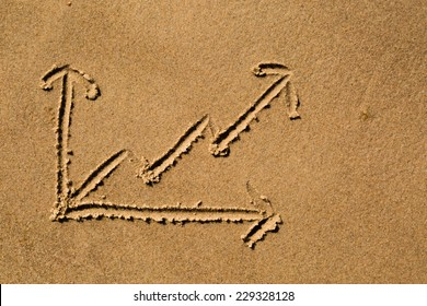 Casual drawing in the sand on a sunny day.
