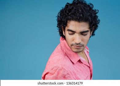 Casual lifestyle outdoor portrait handsome guy