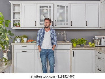 Casual man in the kitchen