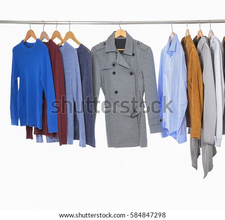 b741c1c3017 Casual Mens Different Suit Clothes Coat Stock Photo (Edit Now ...
