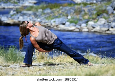 Casual Yoga by the River