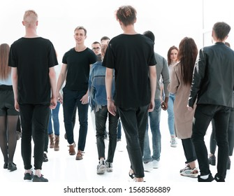 casual young people striding towards their goals
