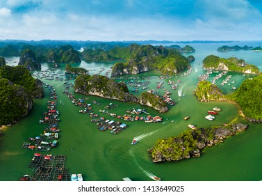 CAT BA, VIET NAM, Cat Ba bay. It has been recognized as a UNESCO biosphere reserve in the world28th May, 2019