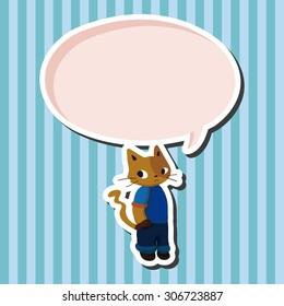 cat, cartoon speech icon