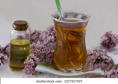 cat grass tea and oil ; Valeriana officinalis tea and oil