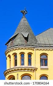 The Cat House , Riga, Latvia, architect Friedrich Scheffel