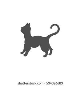 Cat logo illustration