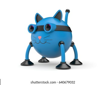 The cat robot. 3d illustration