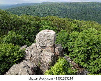 Cat rock rises above the trees in Maryland, USA
