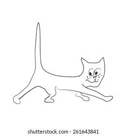 Cat steals.