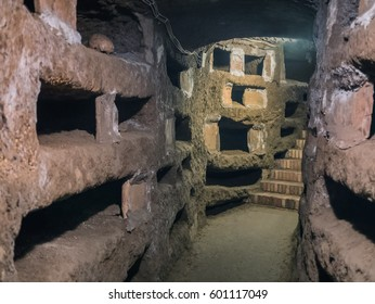 Catacombe di San Pancrazio under the basilica in Trastevere, Rome Italy