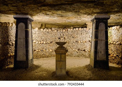 The Catacombs of Paris, France. They are underground ossuaries and tourist attractions. France, Paris, October 07, 2014