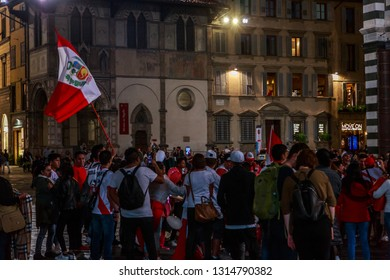 Catalan demonstrations reach all the way to Florence, Italy, Oct. 10, 2017