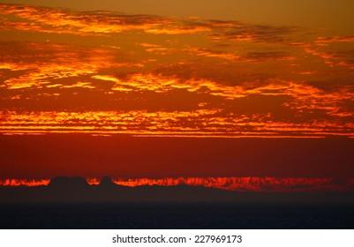 Catalina Island Fire Sunset