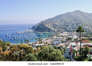 Catalina Island LA Santamonica view