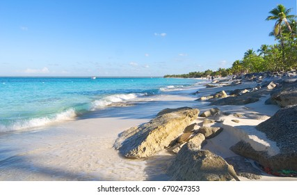 Catalina island - Playa de la isla Catalina - Caribbean tropical beach and sea