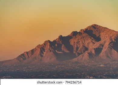 Catalina mountain range Tucson Arizona sunset beautiful orange nature landscape