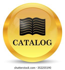 Catalog icon. Internet button on white background.