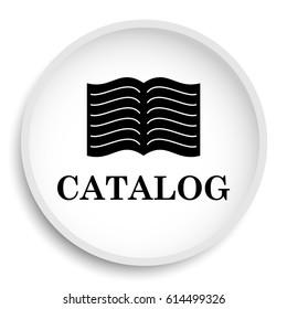 Catalog icon. Catalog website button on white background.