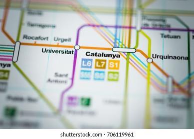 Mapa Metro Barcelona Images Stock Photos Vectors Shutterstock