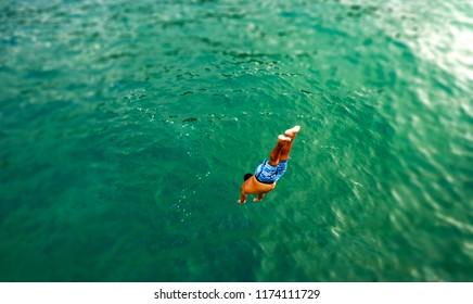 Catamaran diving off the coast of Costa Rica
