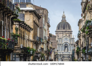 Catania Cathedral in Catania on the island of Sicily, Italy
