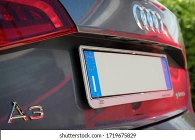 Catania, Italy - 20/05/2018 :Audi car parked on the street
