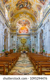 CATANIA, ITALY, APRIL 27, 2017: Interior of the Chiesa di San Benedetto in Catania, Sicily, Italy