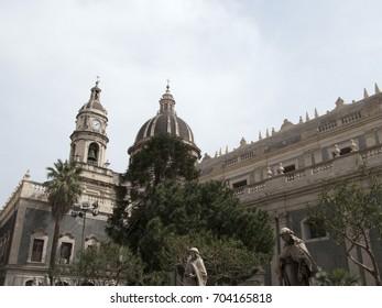 Catania, Italy - April 28, 2010: Catania Cathedral