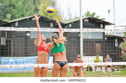 Catania, Italy, September 01 2019 breindebach sara lantignotti michela during Coppa Italy Women 2019 - Semifinals Beach Volley