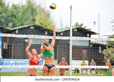 Catania, Italy, September 01 2019 lantignotti michela  breidenbach sara during Coppa Italy Women 2019 - Semifinals Beach Volley