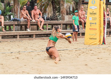 Catania, Italy, September 01 2019 bagher lantignotti michela during Coppa Italy Women 2019 - Semifinals Beach Volley