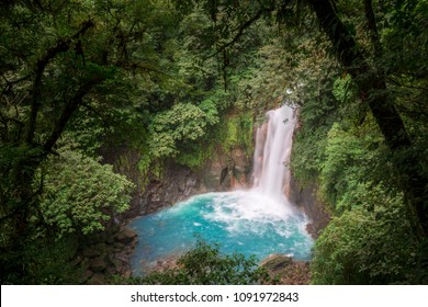 Catarata del Rio Celeste, Tenorio Volcano National Park, Costa Rica Rainforest