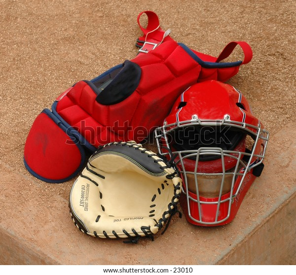 Catchers gear in the home Bullpen.