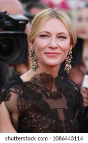 Cate Blanchet attends the screening of 'Everybody Knows (Todos Lo Saben)' and the opening gala during the 71st annual Cannes Film Festival at Palais des Festivals on May 8, 2018 in Cannes, France.