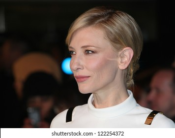 Cate Blanchett arriving for The hobbit Premiere, Odeon Leicester Square, London. 12/12/2012 Picture by: Alexandra Glen