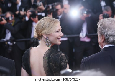 Cate Blanchett attends  the opening gala during the 71st annual Cannes Film Festival at Palais des Festivals on May 8, 2018 in Cannes, France.